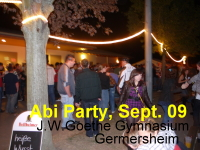 Abi Party der MSS des J.W. Gothe Gymnasiums Germersheim