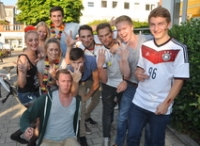 WM 2014. Party-Laune in Landau